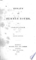 essays for summer hours Encuentra essays for summer hours (large print edition) de charles lanman (isbn: 9780554612300) en amazon envíos gratis a partir de 19.